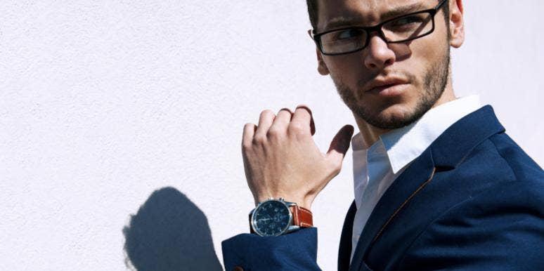 man wearing watch
