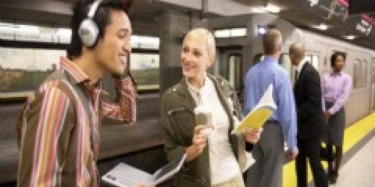 man and woman on subway
