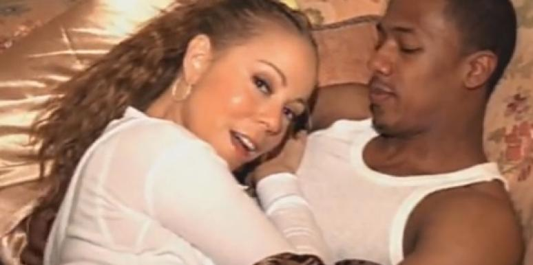 """Mariah Carey & Nick Cannon in her """"Love Story"""" music video"""