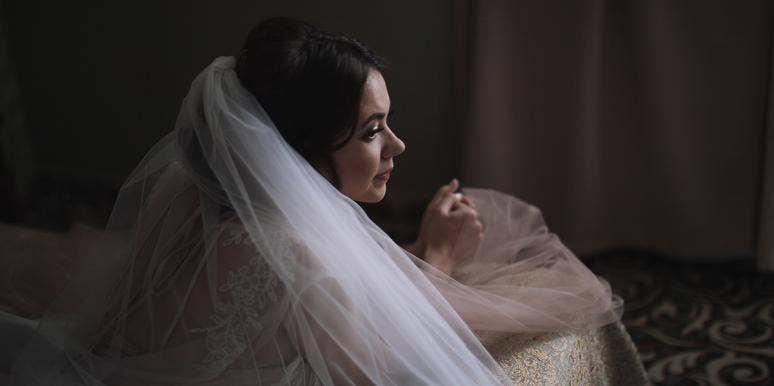 sad distraught bride