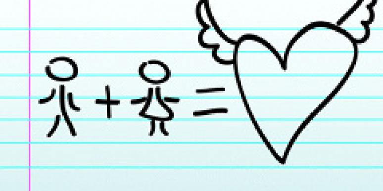 Math and Love stick figures