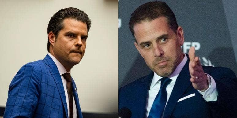 Matt Gaetz and Hunter Biden