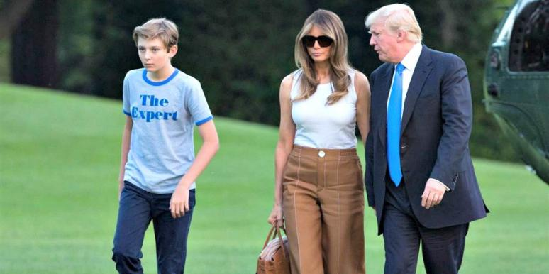 Melania And Barron Trump Finally Left NYC To Move Into The White House