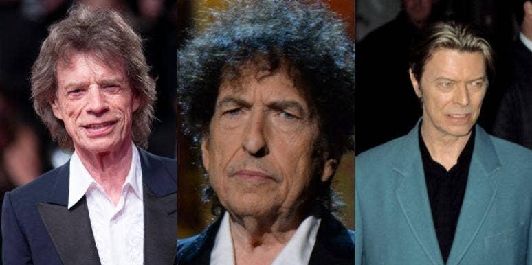 Mick Jagger Bob Dylan David Bowie