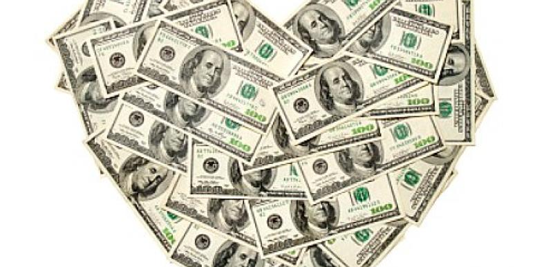 heart made out of money