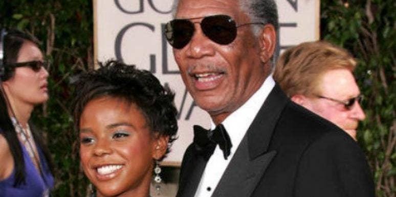 Morgan Freeman and E'Dena Hines at Golden Globes
