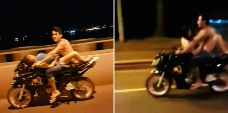 Sex on a motorcycle