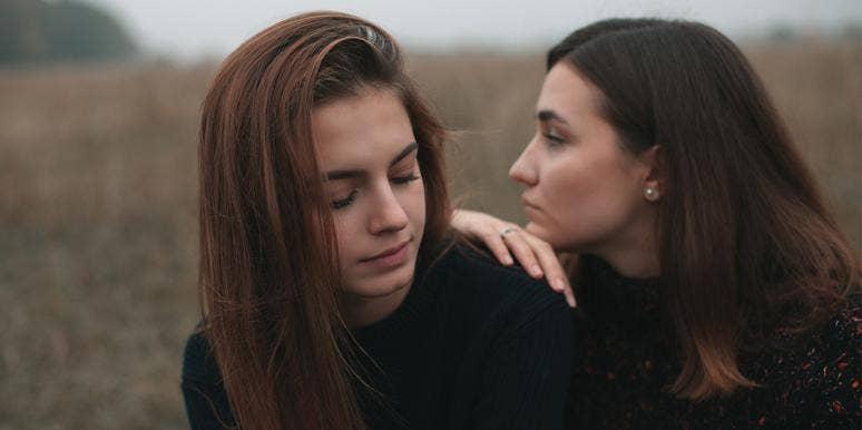 two sad friends