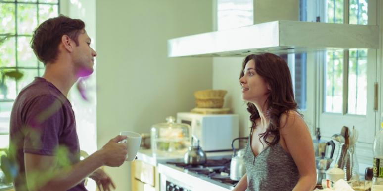 wife annoyed with husband
