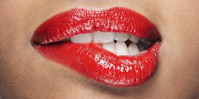 lip bite red lips