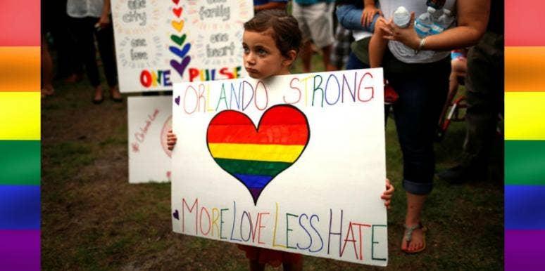 Child at Orlando Vigil