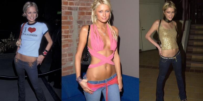 Paris Hilton in early 2000s low rise jeans