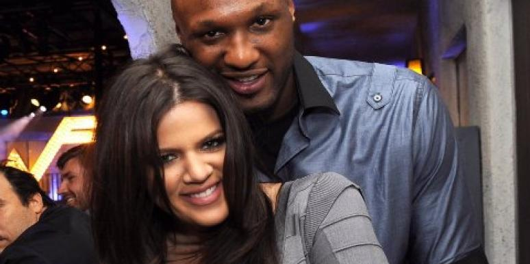 Khloe Kardashian and Lamar Odom PDA