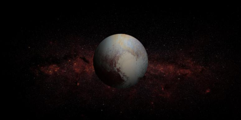planet pluto in space