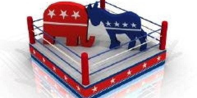 political icons battle it out