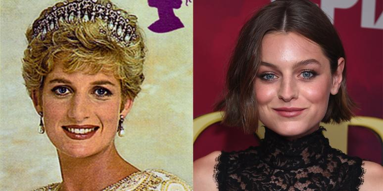 Princess Diana and Emma Corrin