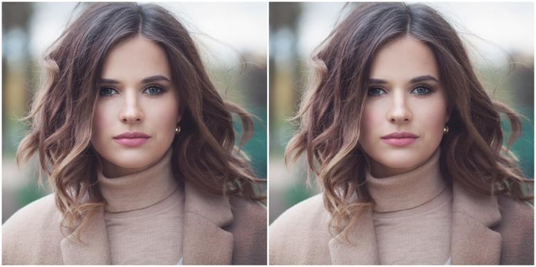 double image of professional-looking woman