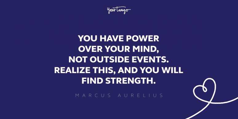 marcus aurelius quote about strength
