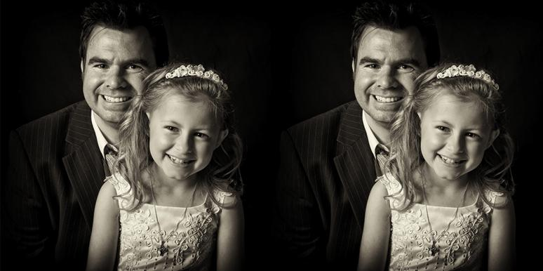 Man Recreates HEARTBREAKING Photos Of His Late Wife With Daughter