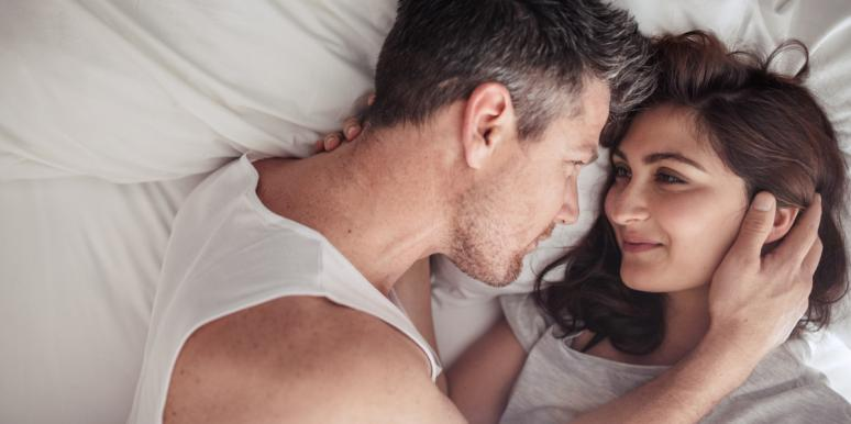 couple intimate in bed