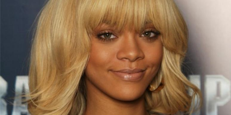 Rihanna with blonde hair
