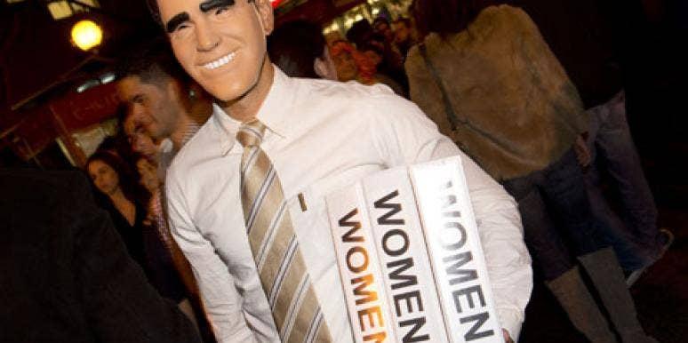 mitt romney holding binders full of women