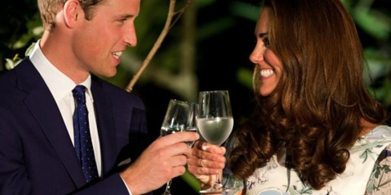 Cheers to Will and Kate.