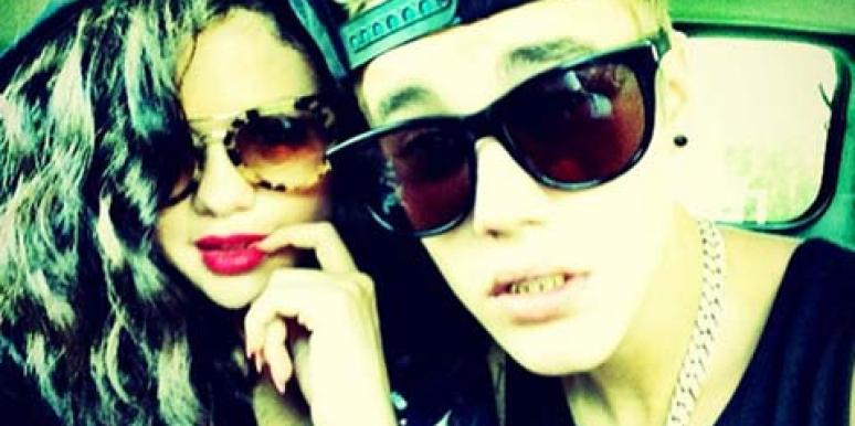 Selena Gomez and Justin Bieber on Instagram wearing hats and sunglasses