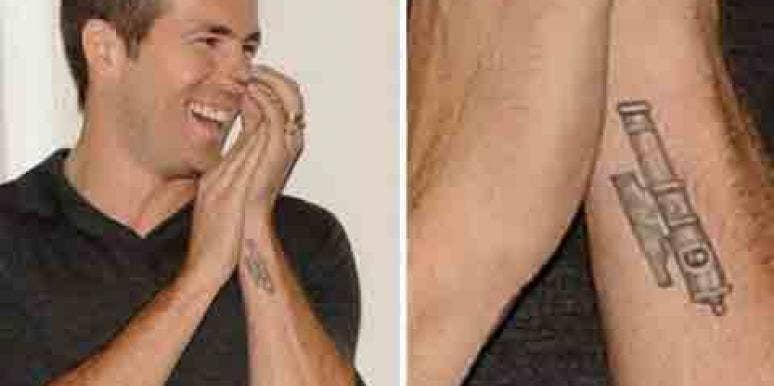 Ryan Reynolds tattoo