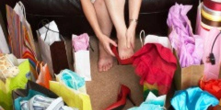 shopping bags woman