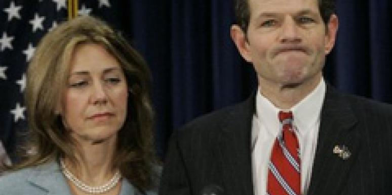 Eliot spitzers wife blames herself his affair