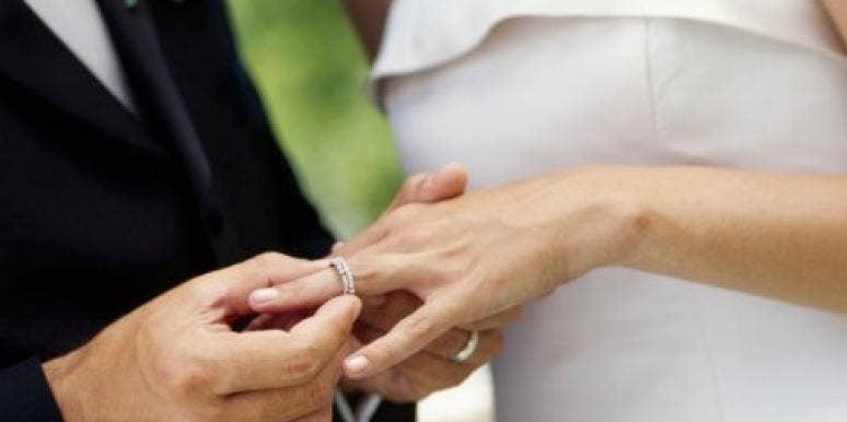 a newlywed couple