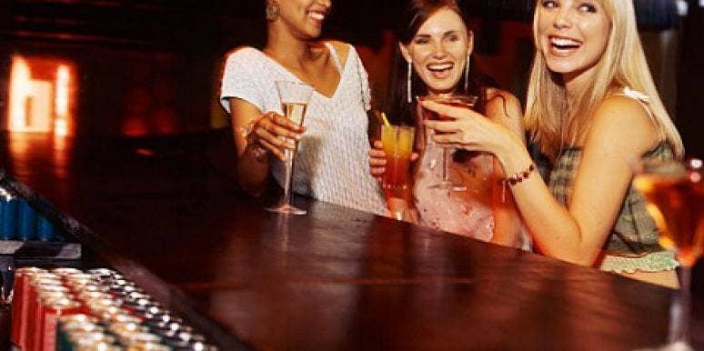 women getting drinks