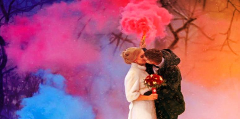 Forget Doves And Sparklers! Smoke Bombs Are A Wedding Hit