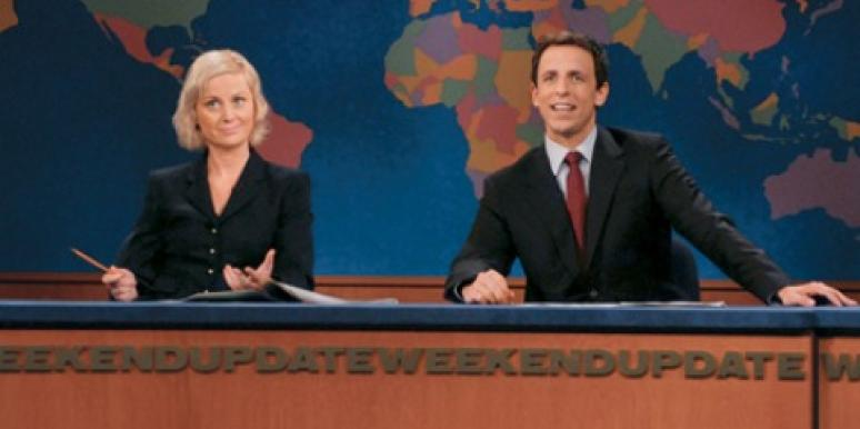 Amy Poehler and Seth Meyers on SNL