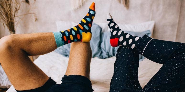 couple wearing socks