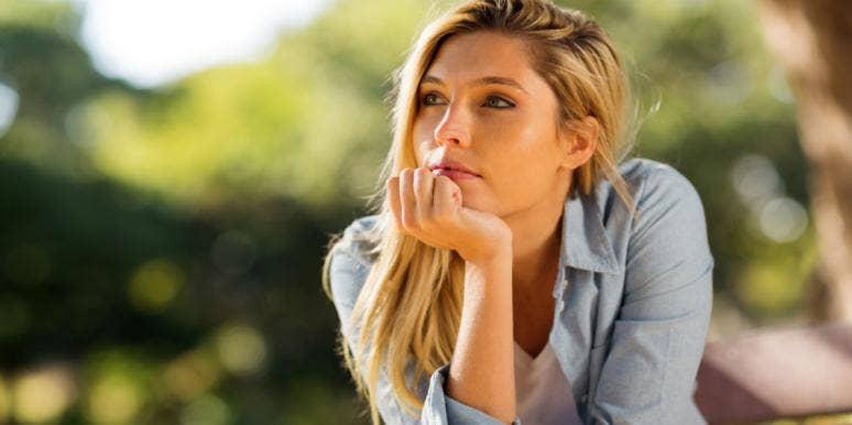 woman wondering thinking