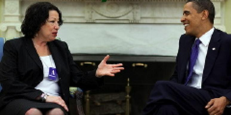 Sonia Sotomayor and President Obama