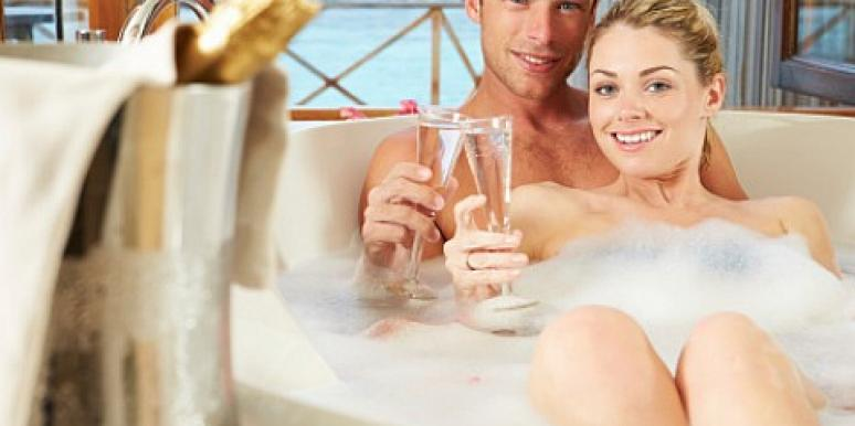 couple bath