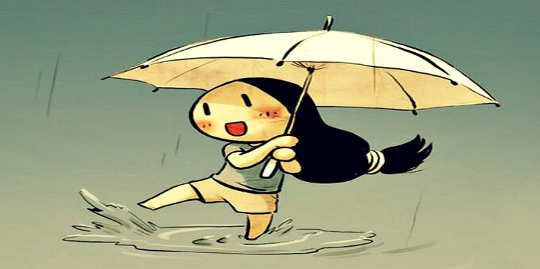 splash in puddles