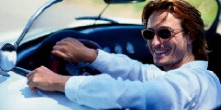 men fast car