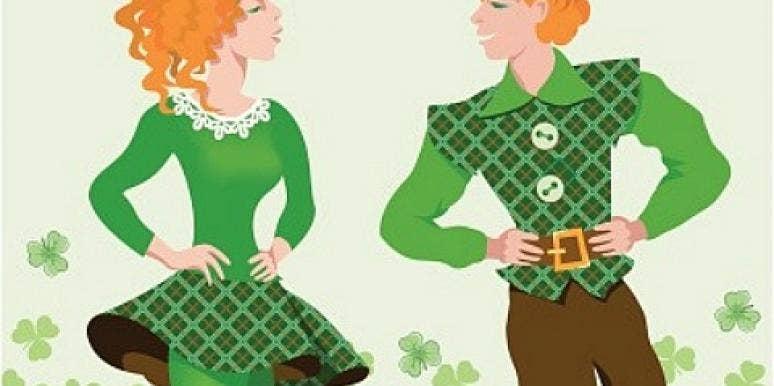 Irish Couple Dancing On St. Patrick's Day