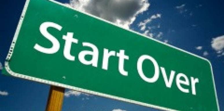 start over sign