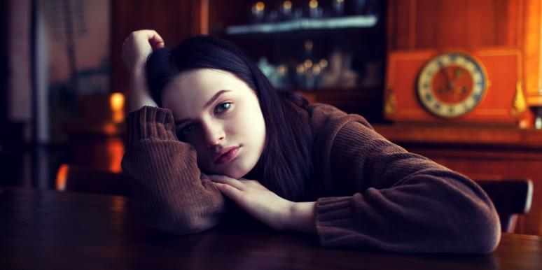 Woman trying to stop thinking about ex