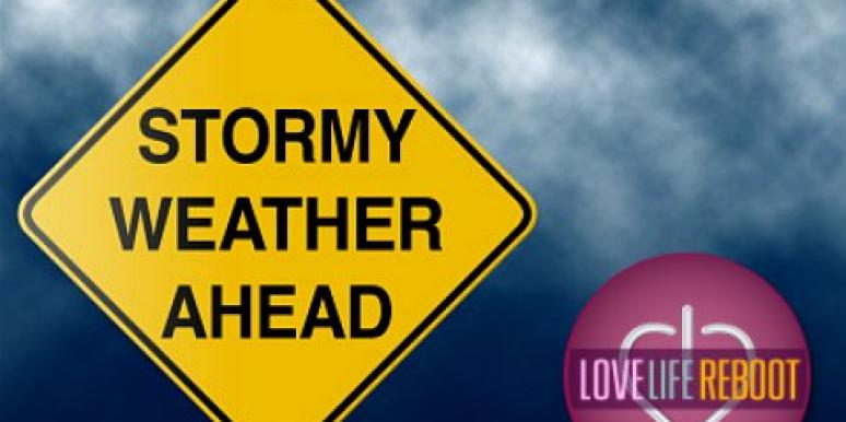 stormy weather ahead sign