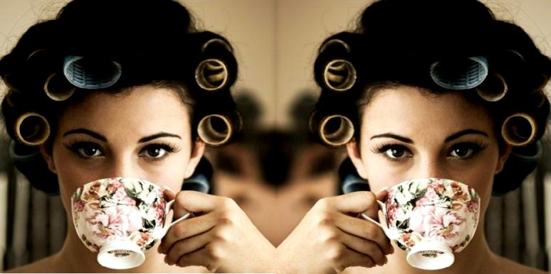 tea and curlers