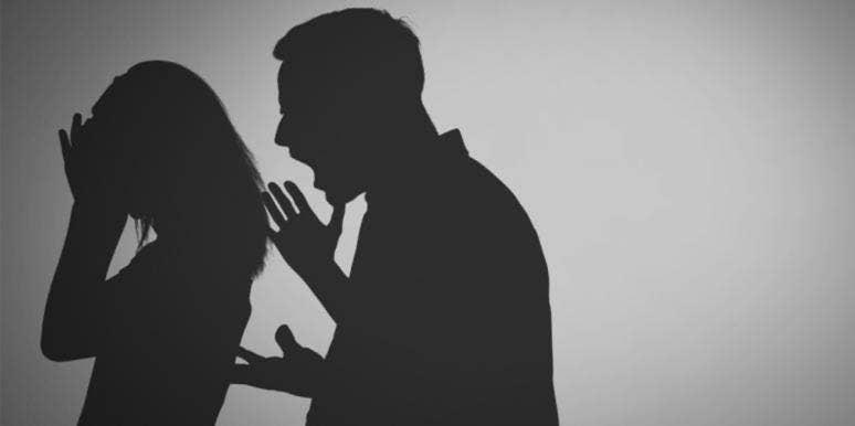 couple arguing silhouette