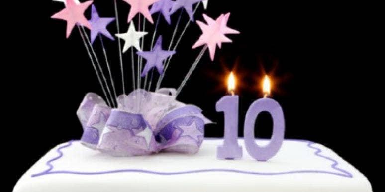 cake stars 10 ten candles years anniversary birthday
