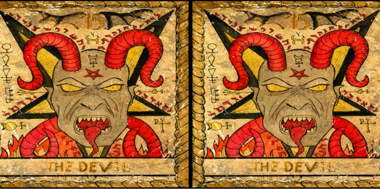 The Devil Tarot Card Meanings: Upright, Reversed, Love