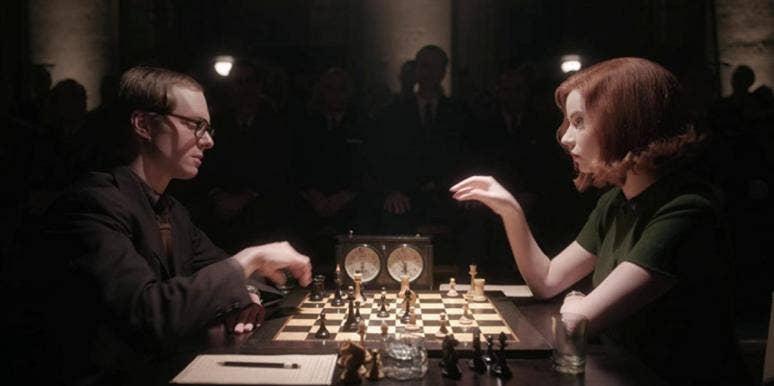 "scene from the Netflix show ""The Queen's Gambit"""
